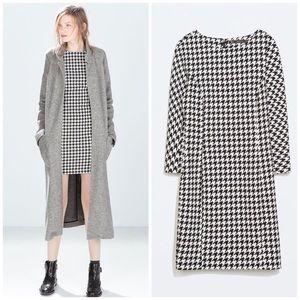 NWT Zara Trafaluc Houndstooth Dress